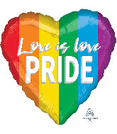 "18"" Love is Love Pride Foil Balloon"