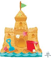 """30"""" Sandcastle Pail & Shovel SuperShape Foil Balloon"""