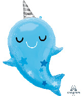 "30"" Narwhal Baby SuperShape Foil Balloon"