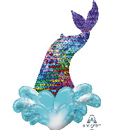 "39"" Mermaid Sequin Tail SuperShape Foil Balloon"
