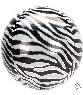 "16"" Orbz Zebra Print Foil Balloon"