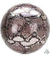 """16"""" Orbz Snake Skin Print Foil Balloon"""