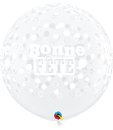 "36"" Clear (2 Per Bag) Fete Confetti Et Pois Latex Balloons"
