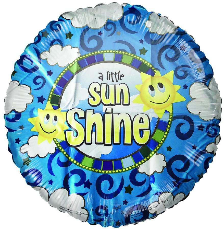 "18"" A Little Sunshine Foil Balloon"