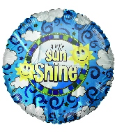 "18"" A Little Sunshine Foil Balloon"