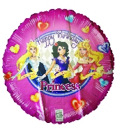 "18"" Happy Birthday Princess Foil Balloon"