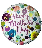 """18"""" Happy Mother's Day Dots Foil Balloon"""