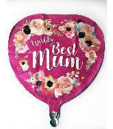 """18"""" World's Best Mum Foil Balloon"""