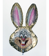 "39"" Brown Bunny Foil Balloon"