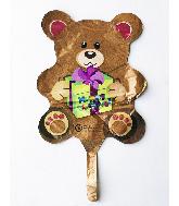 "9"" Airfill Only Happy Birthday Bear Foil Balloon"