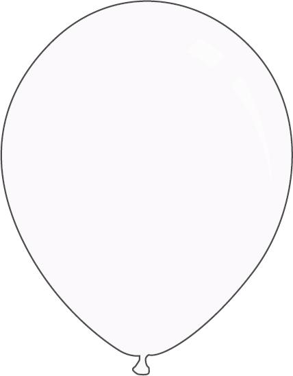 "9"" Standard White Decomex Latex Balloons (100 Per Bag)"