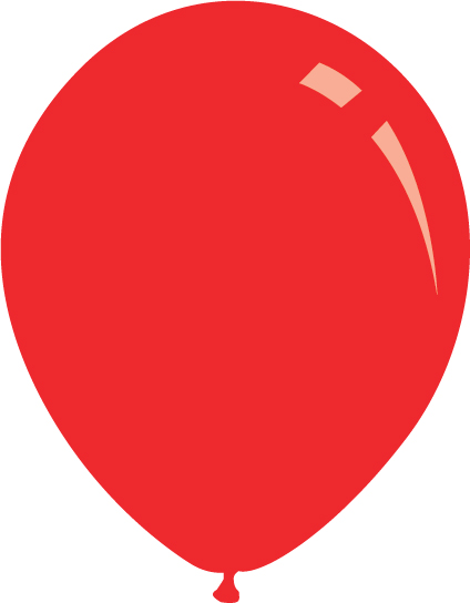 "5"" Standard Red Decomex Latex Balloons (100 Per Bag)"