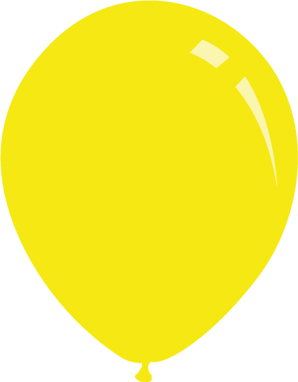 "5"" Standard Yellow Decomex Latex Balloons (100 Per Bag)"