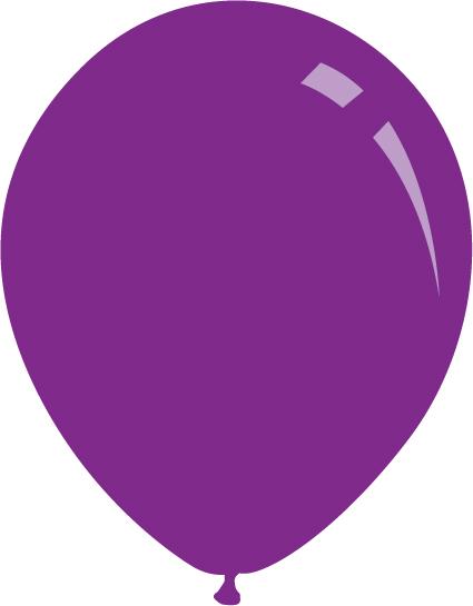 "9"" Standard Purple Decomex Latex Balloons (100 Per Bag)"