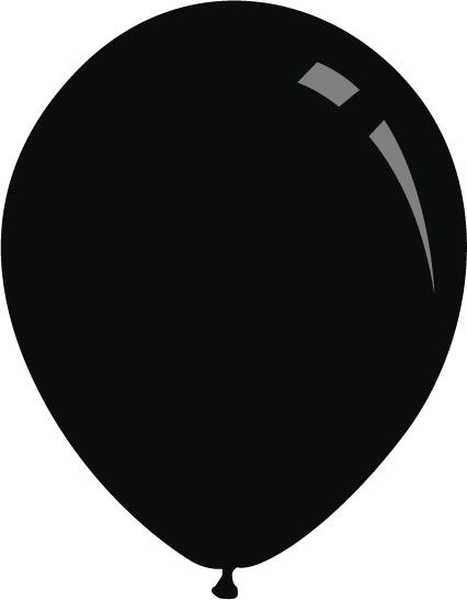 """5"""" Standard Black Decomex Latex Balloons (100 Per Bag)"""