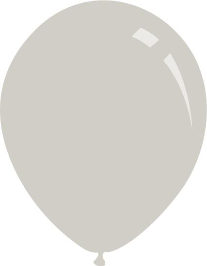 """5"""" Pastel Grey Decomex Latex Balloons (100 Per Bag)"""