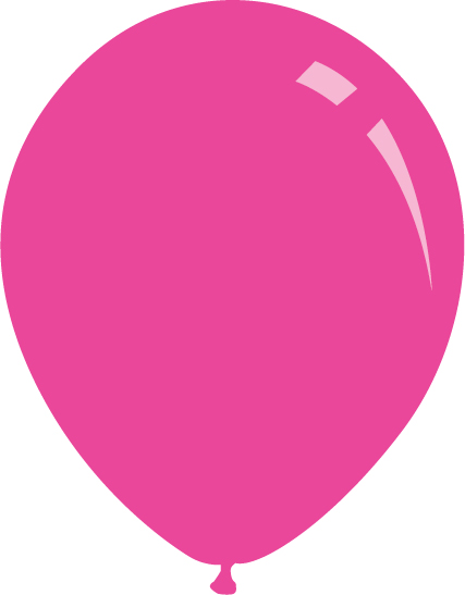 "5"" Pastel Fuchsia Decomex Latex Balloons (100 Per Bag)"