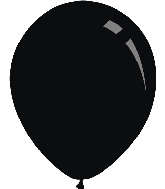 "5"" Standard Black Decomex Latex Balloons (100 Per Bag)"