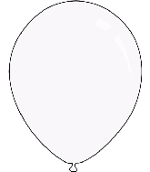 "12"" Crystal Clear Decomex Latex Balloons (100 Per Bag)"
