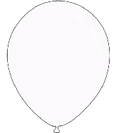 "5"" Metallic White Decomex Latex Balloons (100 Per Bag)"