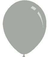 "5"" Metallic Silver Decomex Latex Balloons (100 Per Bag)"