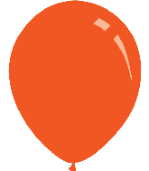 "5"" Metallic Orange Decomex Latex Balloons (100 Per Bag)"