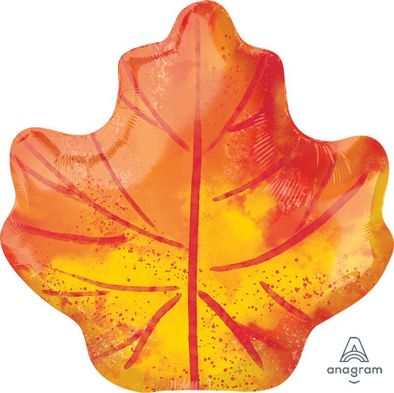 "21"" Fall Maple Leaf Foil Balloon"