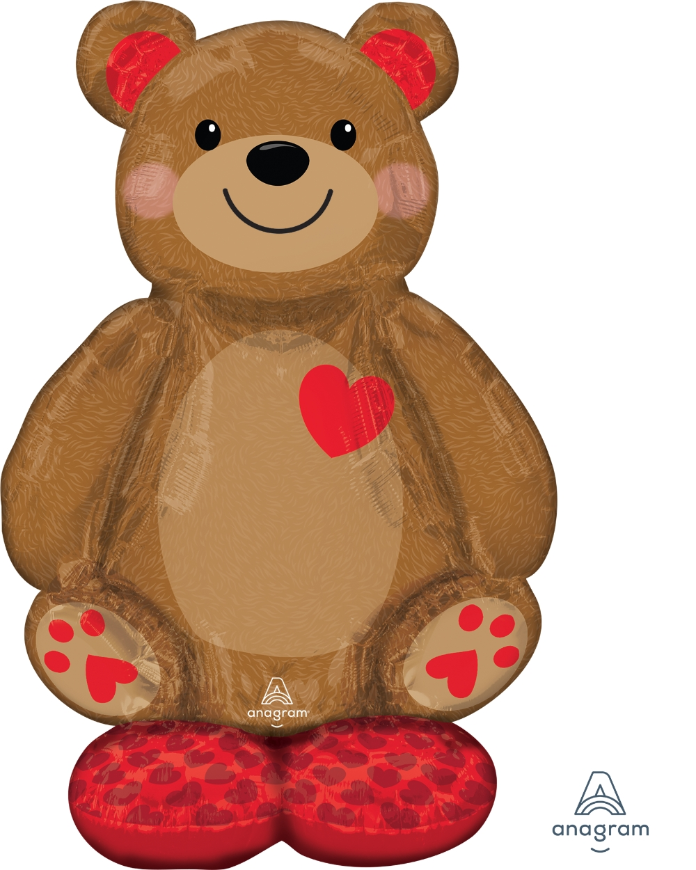 Airfill Only Airloonz Consumer Inflatable Big Cuddly Bear Foil Balloon