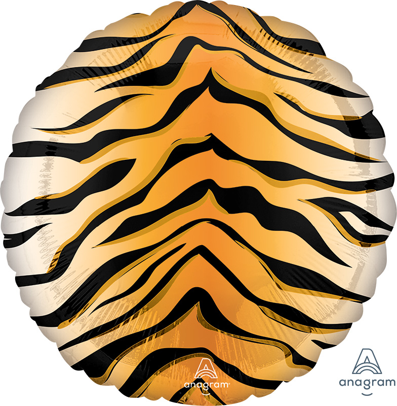 "18"" Tiger Print Animalz Foil Balloon"