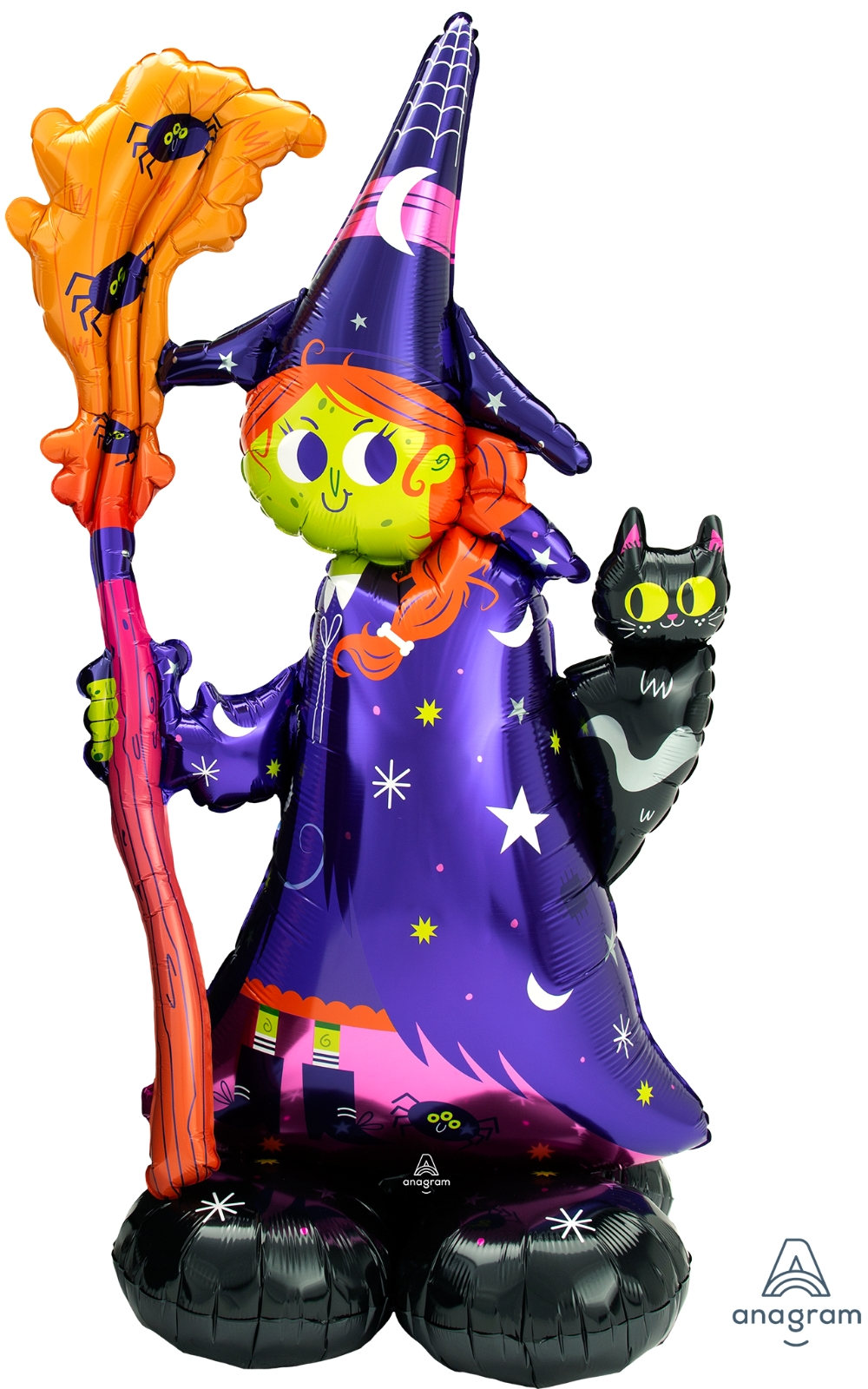 Airfill Only Airloonz Consumer Inflatable Scary Witch Foil Balloon