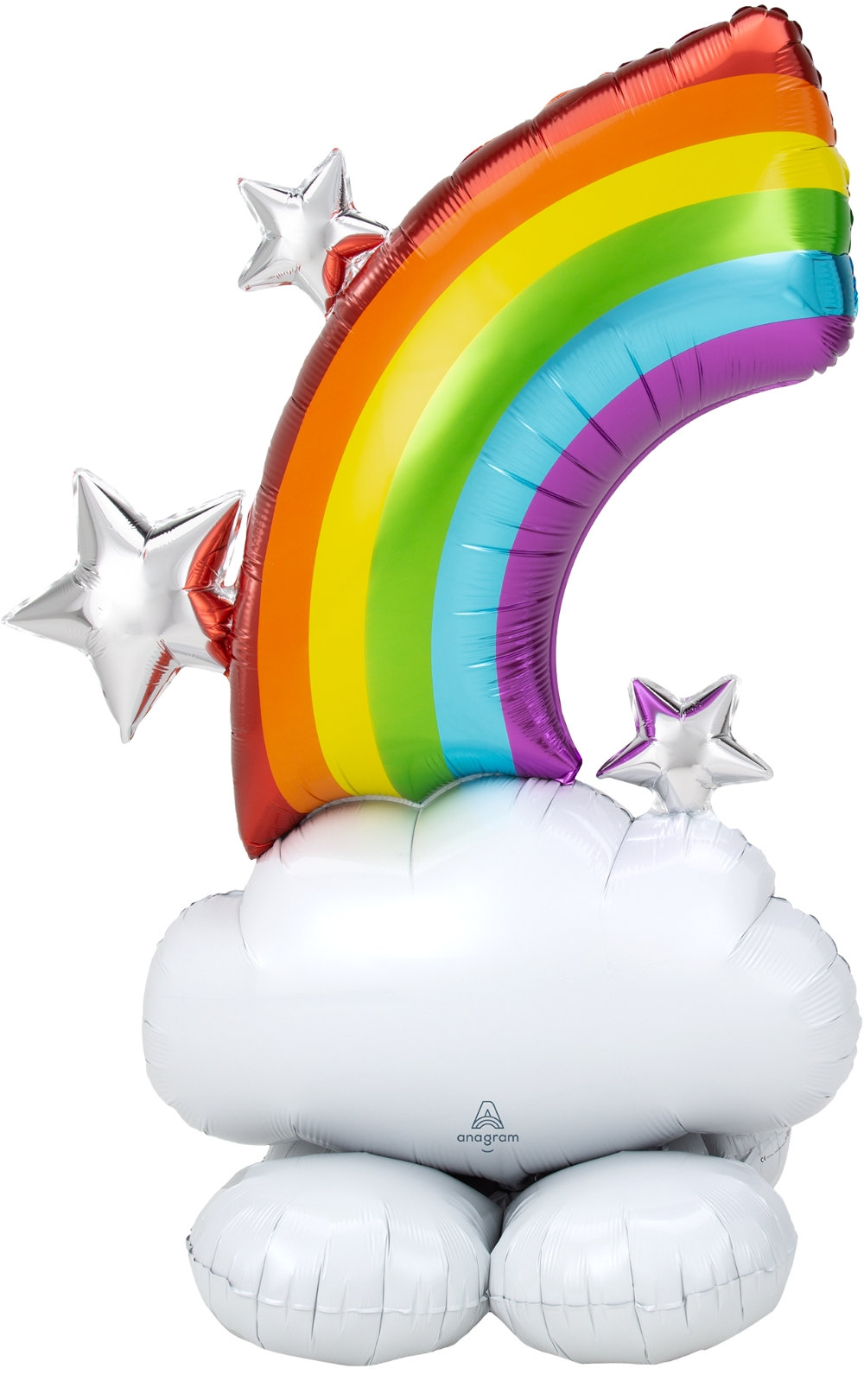 """52"""" Airfill Only Airloonz Consumer Inflatable Rainbow Foil Balloon"""