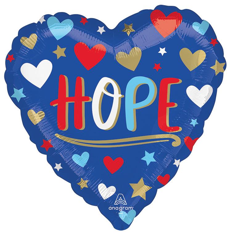"18"" Unity Hope Heart Foil Balloon"