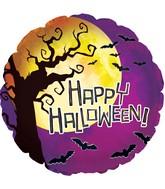 """17"""" Halloween Moon Foil Balloon"""