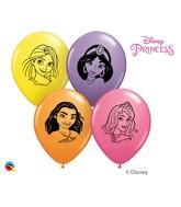 """5"""" Special Assorted (100 Per Bag) Disney Princess Faces Latex Balloons"""