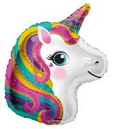 """12"""" Aifill Only Colorful Unicorn Foil Balloon"""