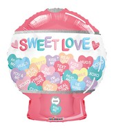 "18"" Sweet Love Candy Machine Gellibean Foil Balloon"