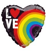 "18"" Love Rainbow Gellibean Foil Balloon"