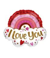 """18"""" Love You Rainbow Foil Balloon"""