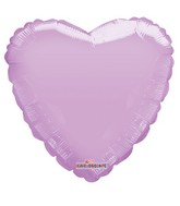 "18"" Solid Lavander Macaron Heart Gellibean Foil Balloon"