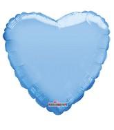 """18"""" Solid Pale Blue Macaron Heart Gellibean Foil Balloon"""