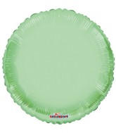 "18"" Solid Green Macaron Round Gellibean Foil Balloon"