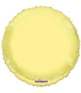 """18"""" Solid Yellow Macaron Round Gellibean Foil Balloon"""