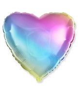"18"" Heart Gradient Pastel Foil Balloon"