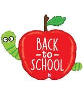 "40"" Back To School Apple Foil Balloon"