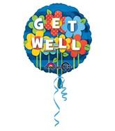 "18"" Get Well Garden Mylar Balloon"