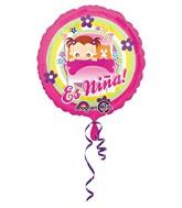 """18"""" Es Nina Baby Girl in Bed Balloon"""