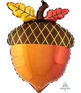 "18"" Satin Infused Fall Acorn Foil Balloon"