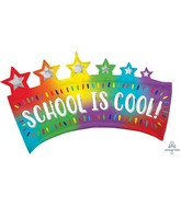 "34"" SuperShape Ombré School Banner Foil Balloon"