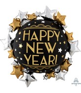 """30"""" SuperShape Satin Infused New Year Foil Balloon"""