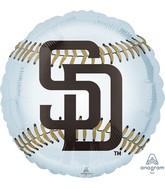 "18"" San Diego Padres Foil Balloon"